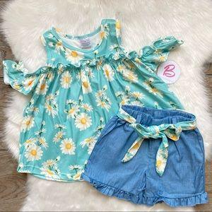 Girl Boutique Floral Short Set